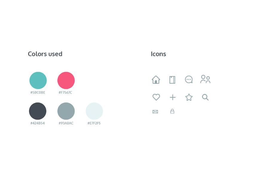 Bookshelf Free Sketch UI Kit
