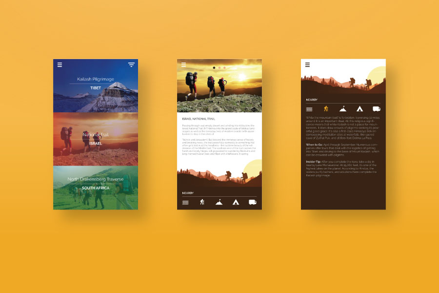 Sunrise Trekking Free UI Kit