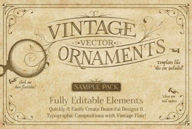 Vintage Vector Ornaments Free Sample