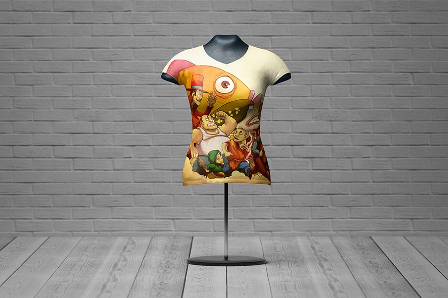 Female T-Shirt Mannequin Mockup