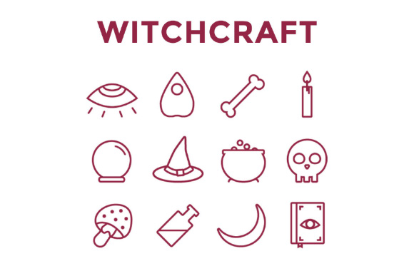 Free Witchcraft Vector Icon Set