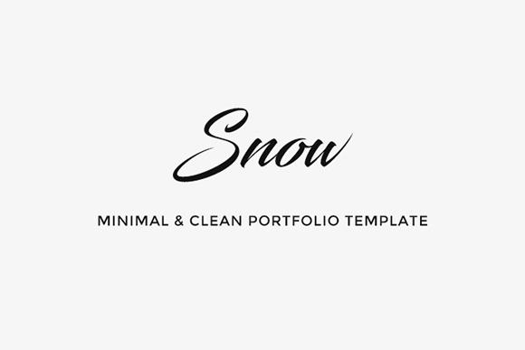 Snow Free PSD HTML Portfolio