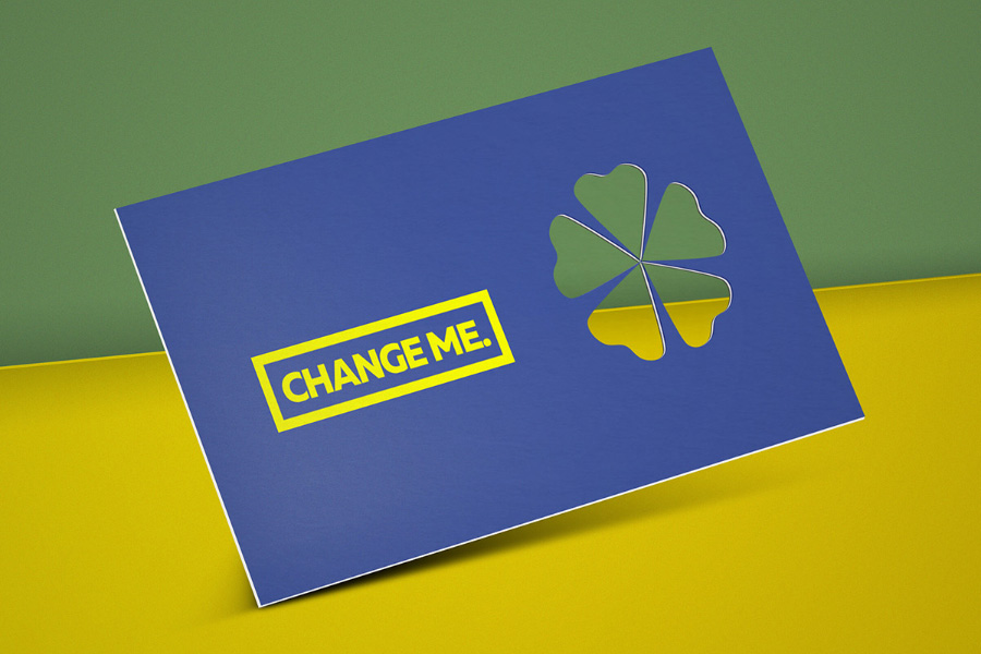 Cutout Business Card PSD Mockup