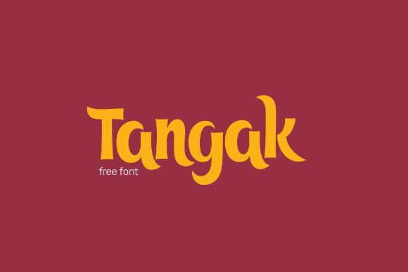 Tangak Display Free Typeface