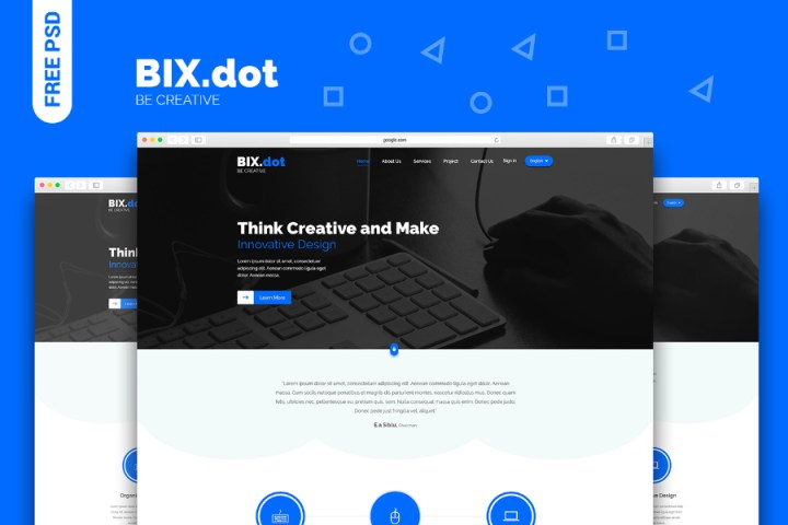 Bix-dot Homepage PSD Template