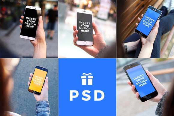 5 Photorealistic PSD Mockups