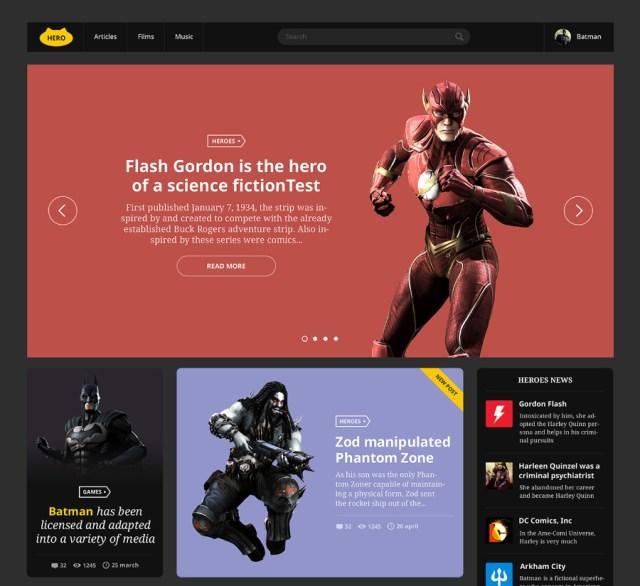 Hero All Free PSD UI Kit