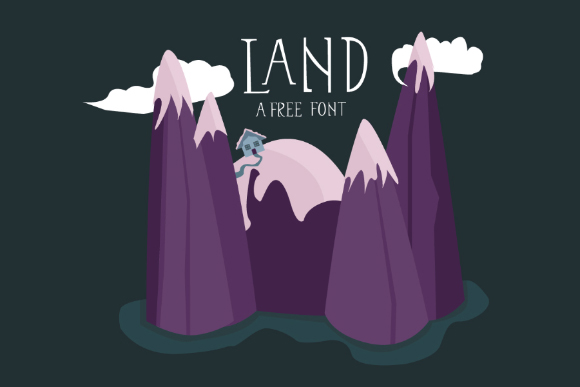Land Display Free Typeface