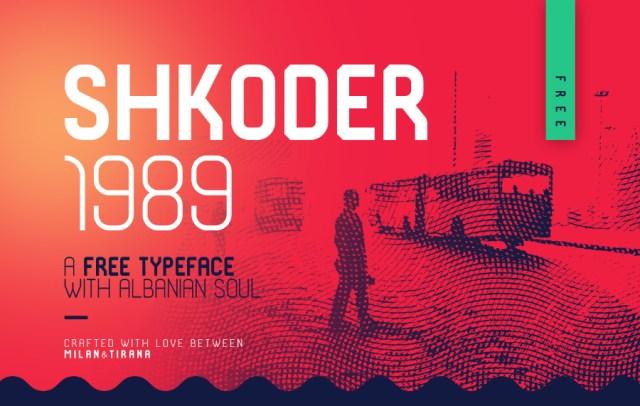 Shkoder 1989 Free Display Typeface
