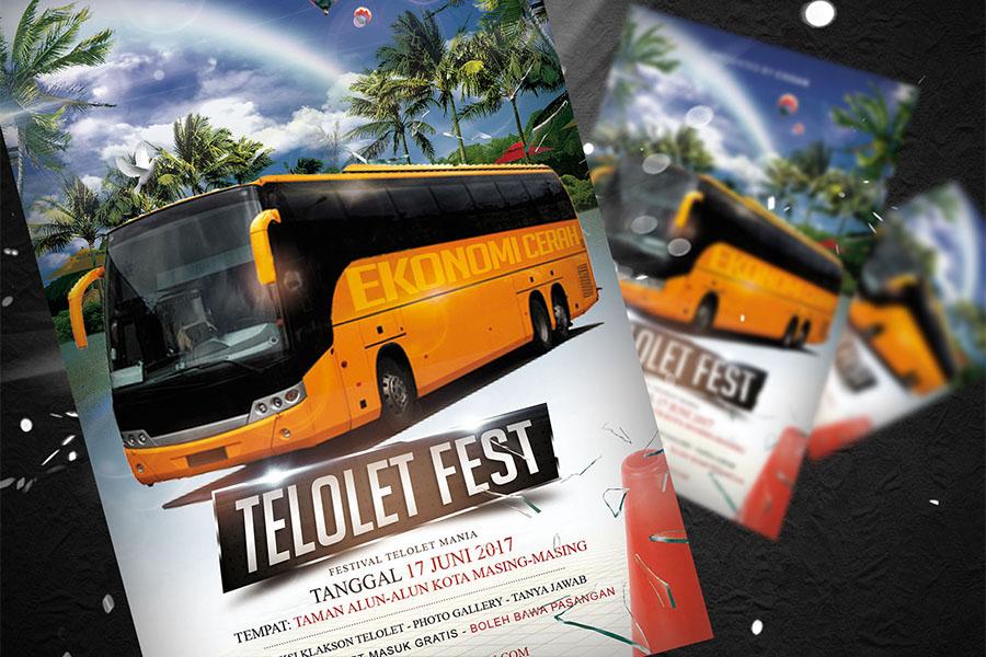 Telolet Fest Flyer Template