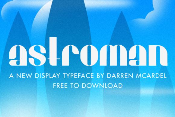 Free Astroman Display Font