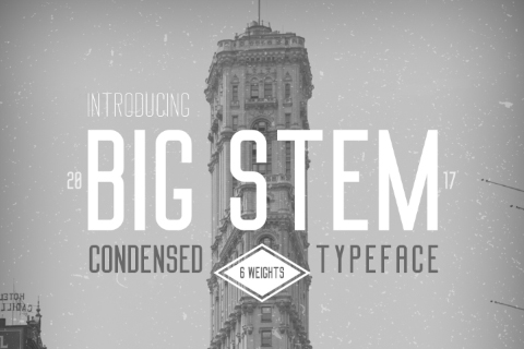 Big Stem Free Demo Typeface
