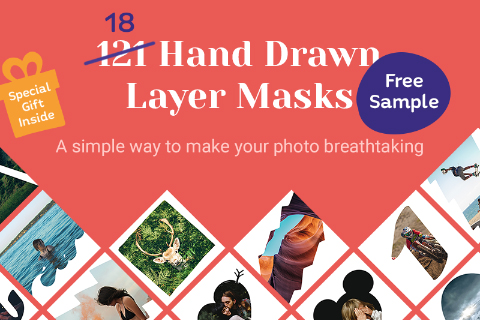 18 Hand Drawn Layer Masks