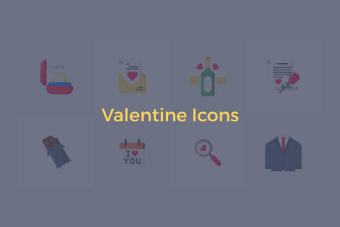 Free Colorful Valentine Icon Pack
