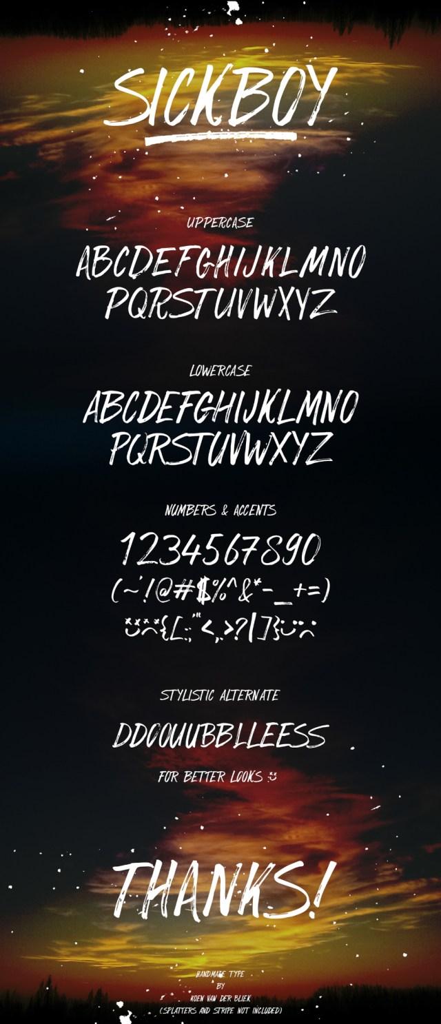 Sickboy Hand-brush Free Typeface