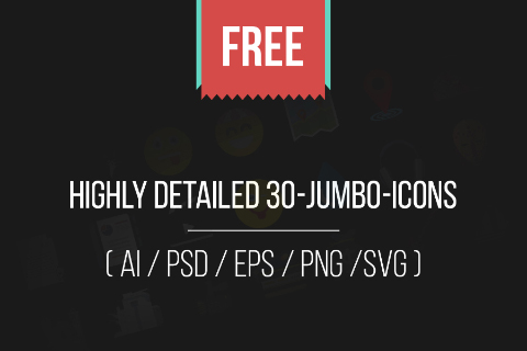 Jumbo Flat Icons Free Sample