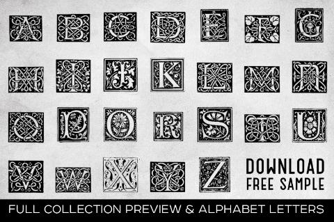 Free Vintage Letters Alphabeth