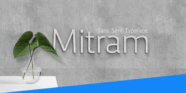 Mitram Typeface Free Sample