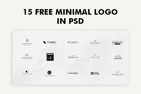 15 Free Minimal Logo in PSD