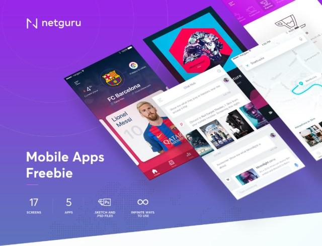 5 Free Mobile App UI Kit
