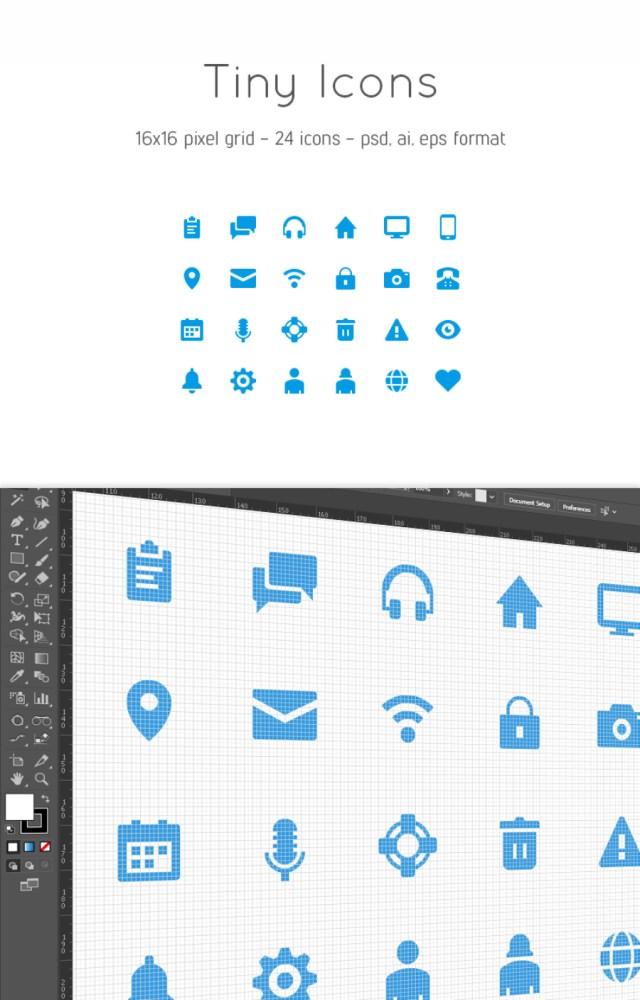 24 Free Vector Tiny Icons