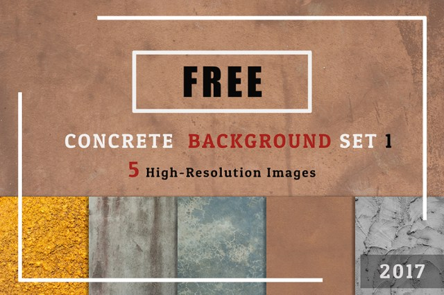 Free 5 Concrete Textured Background