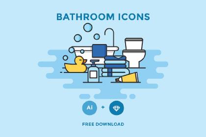 Free Vector Bathroom Icons