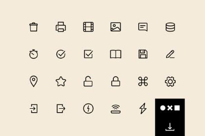 Free 100 Essential UI Icons