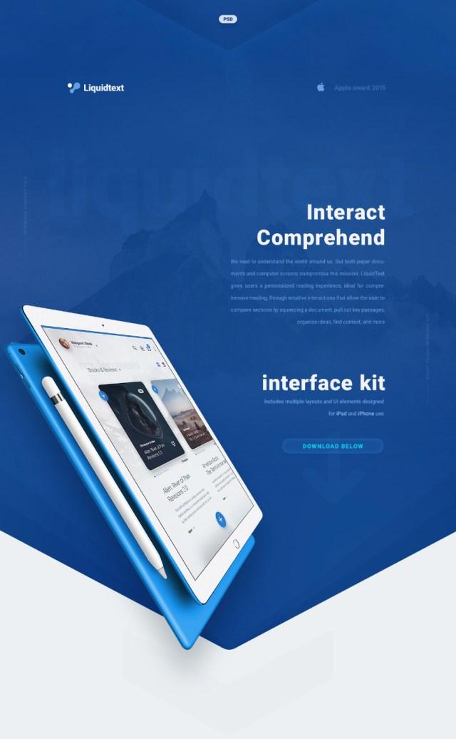 LiquidPro Free PSD UI Kit