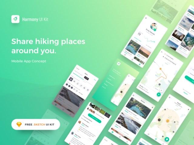 Harmony Free Sketch UI Kit