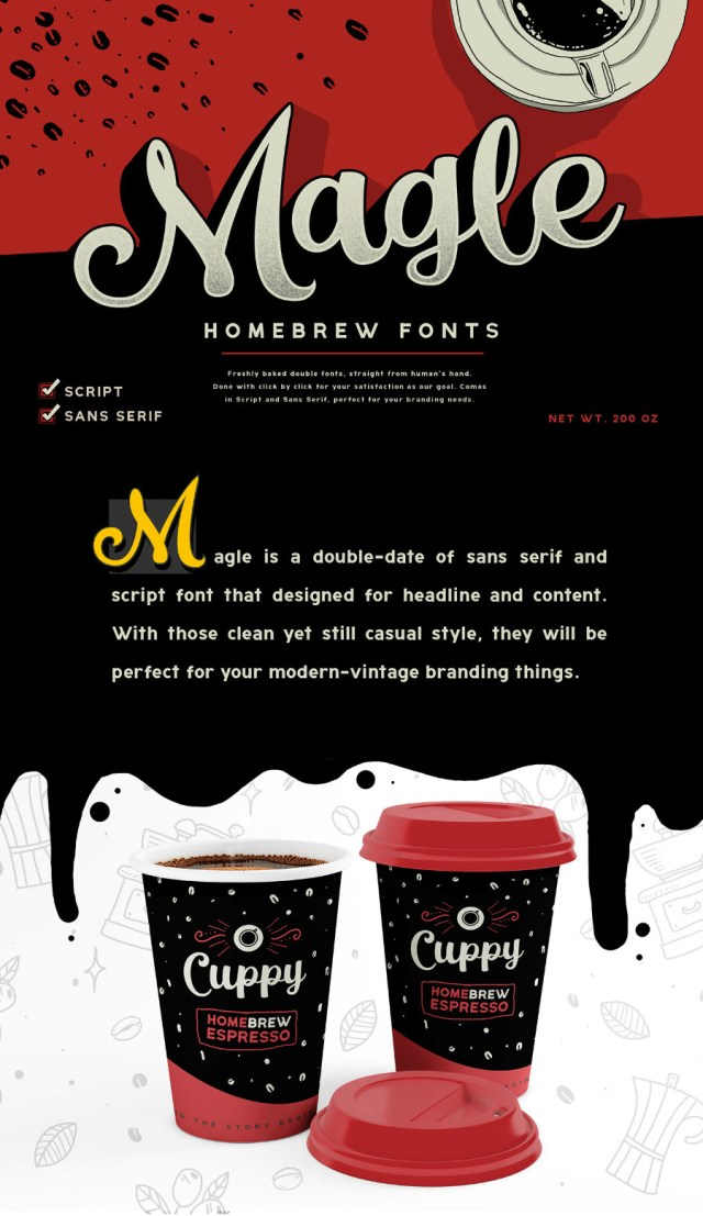 Magle Script Free Demo Typeface