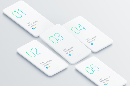 Free Minimalistic Phone Mockup