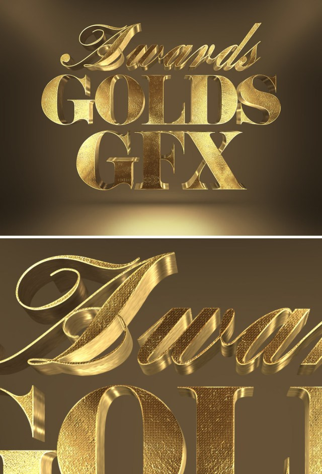 Free 3D Gold Text Effect