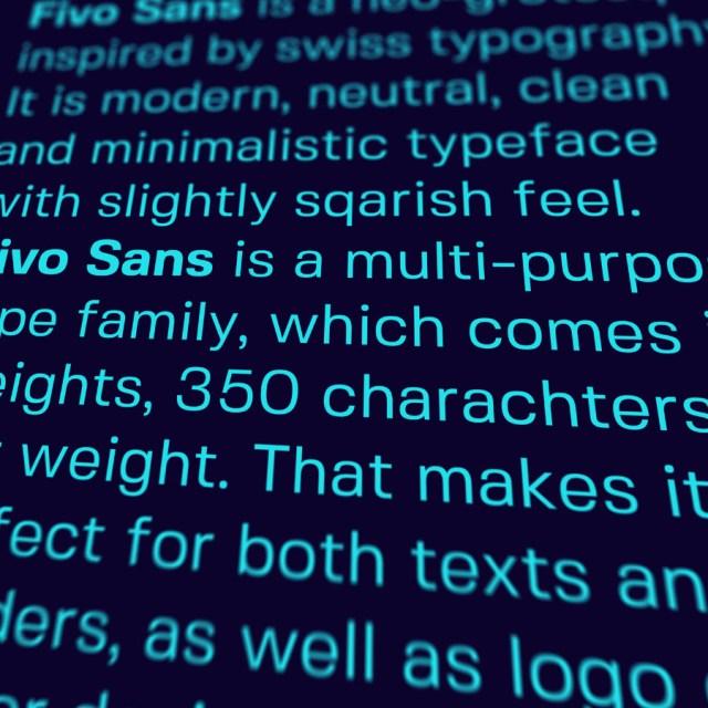 Fivo Sans Free Font Family