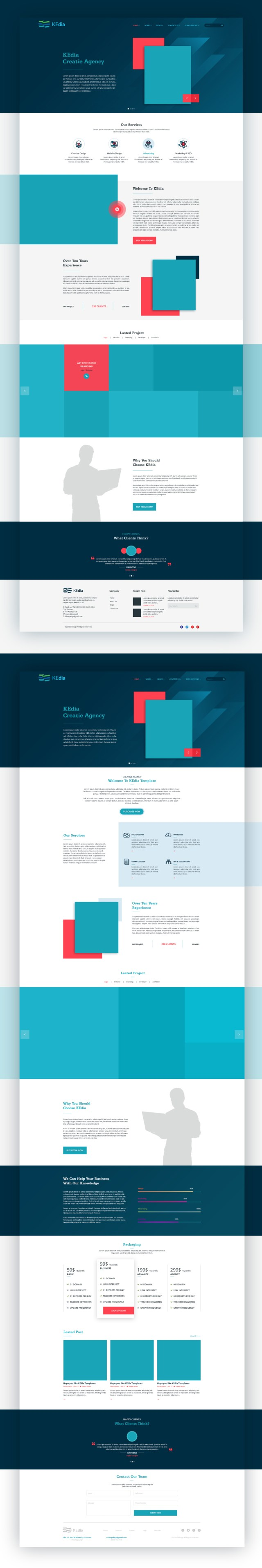 Kedia Website Free PSD Template