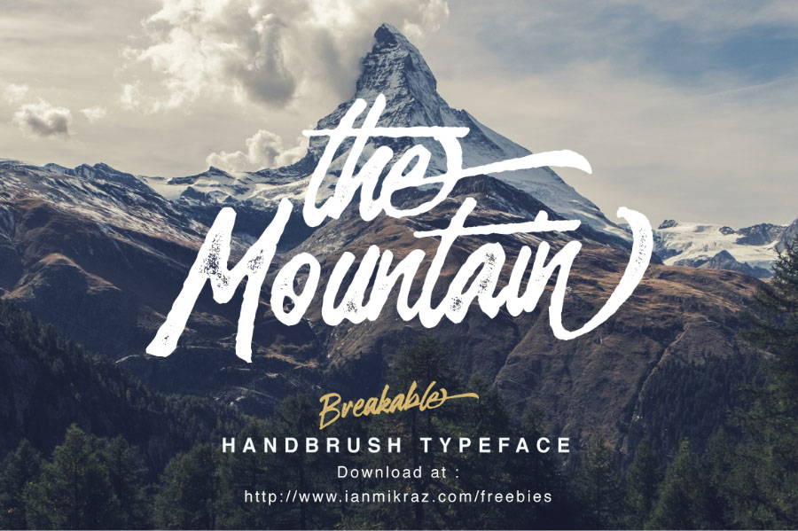 Breakable Free Handbrush Typeface