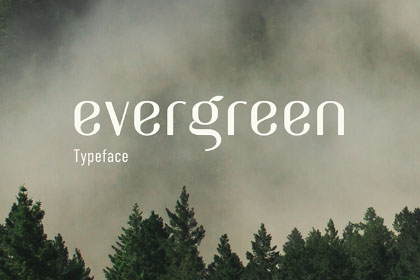 Evergreen Free Display Typeface