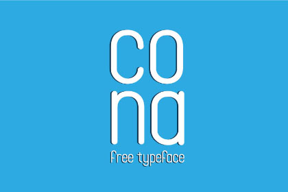 Cona Display Free Typeface