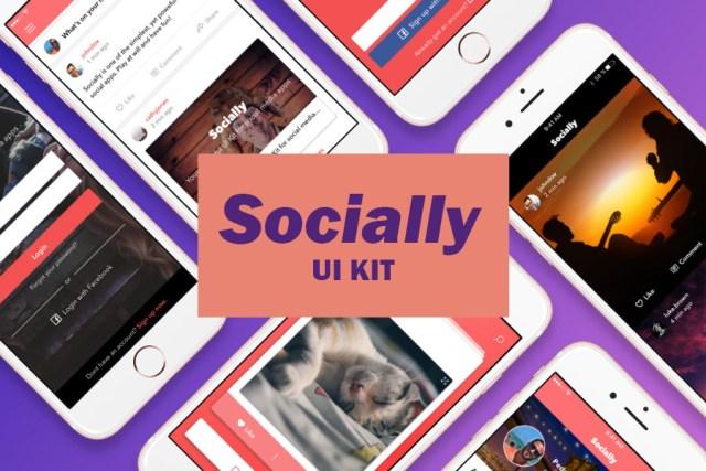 Socially Free Sketch UI Kit