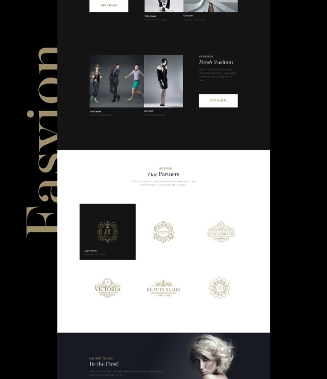 Fashion One Page Sketch Template