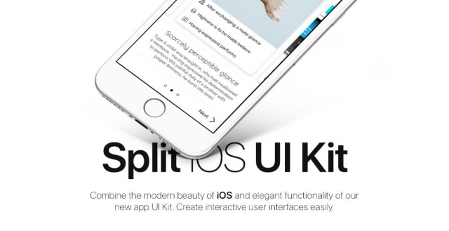Split iOS UI Kit Free Demo