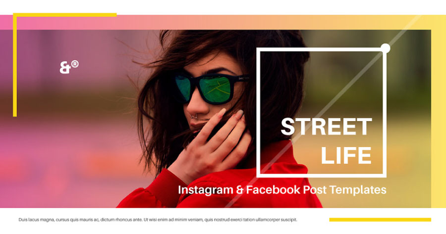 Street Life Free Social Media Template Free Design Resources - Social media post template