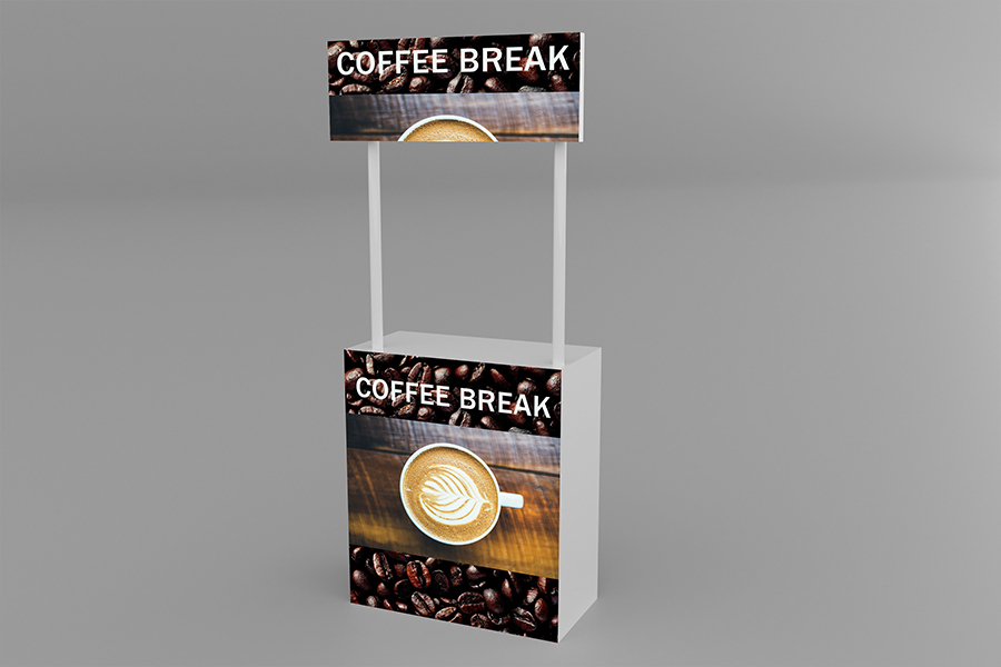 Free Promotional Stand Mockup