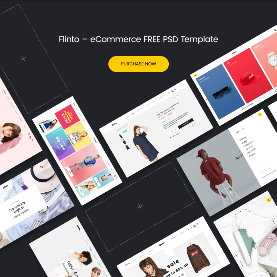 Flinto WooCommerce PSD Template