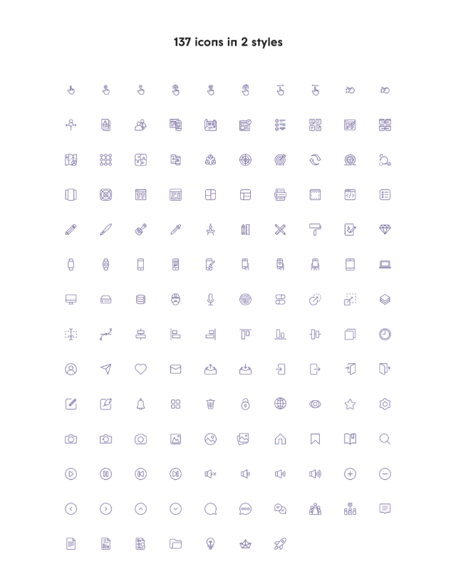 Free 100+ Vector UI Icons