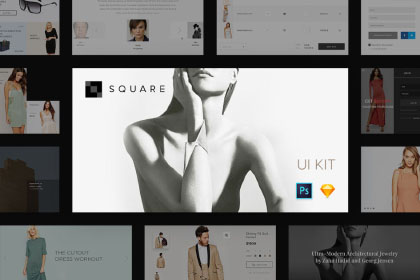 Square UI Kit Free Sample
