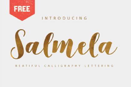 Salmela Free Calligraphy Font
