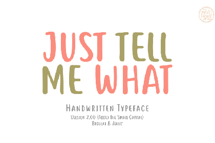 Tell Me Handwriting Demo Font
