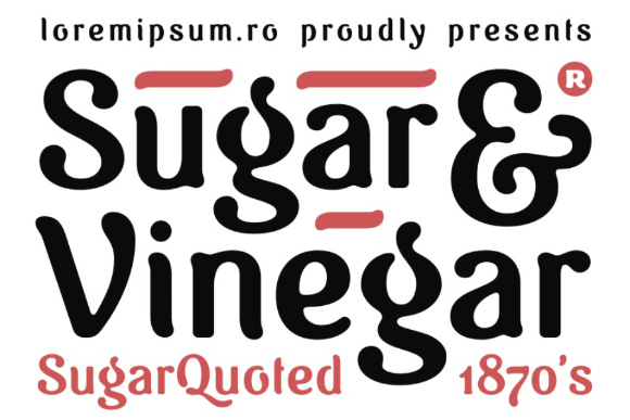 Vinegar Free Typeface