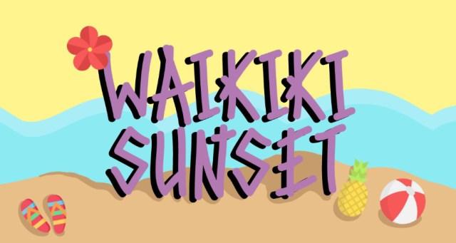 Waikiki Sunset Free Font